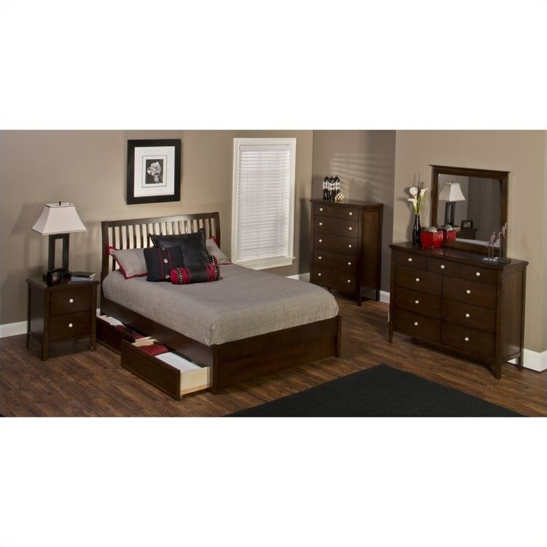 Hillsdale Metro 5 Piece Bedroom Set with Liza Storage Bed