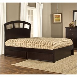Hillsdale Metro Riva Storage Platform Bed in Espresso - Queen