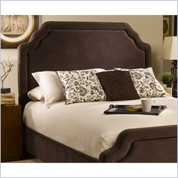 Hillsdale Carlyle Headboard with Rails in Chocolate - Full/Queen