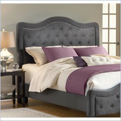 Hillsdale Treiste Headboard with Metal Bed Frame in Pewter - Queen