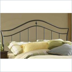 Hillsdale Imperial Headboard with Rails in Twinkle Black - Twin