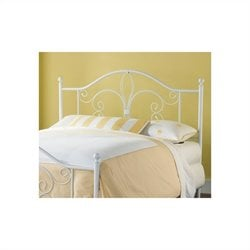 Hillsdale Ruby Headboard in Textured White Finish - Full/Queen