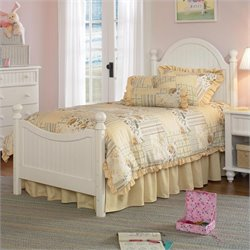 Hillsdale Westfield Poster Bed in Off-White Finish - Twin