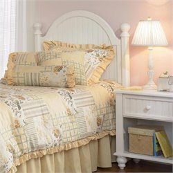 Hillsdale Westfield Panel Headboard in White - Twin