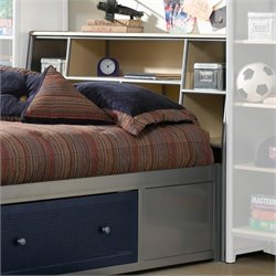 Hillsdale Universal Youth Metal Bookcase Headboard in Silver - Twin