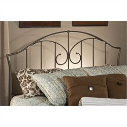 Hillsdale Zurick Spindle Headboard in Pewter