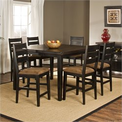 Hillsdale Killarney 7 Piece Dining Set in Black and Antique Brown
