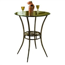 Hillsdale Marsala Bistro Table in Gray with Rustic Highlight