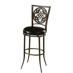 Hillsdale Marsala Swivel Bar Stool in Gray - 46
