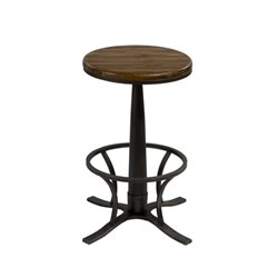 Hillsdale Rivage Backless Swivel Bar Stool in Steel Gray