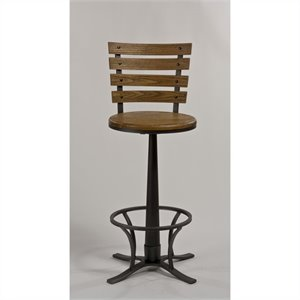 Hillsdale Westview Swivel Bar Stool in Steel Gray