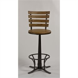 Hillsdale Westview Swivel Bar Stool in Steel Gray - Bar Height