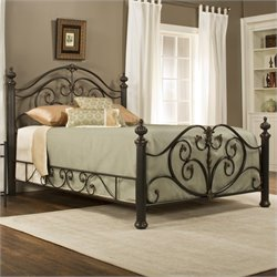 Hillsdale Grand Isle Bed in Brushed Bronze