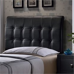 Hillsdale Lusso Tufted Panal Headboard in Black - Twin