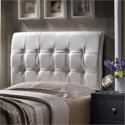 Hillsdale Lusso Tufted Panal Headboard in White - Full