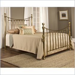 Hillsdale Old England Poster Bed in Antique Brass - King