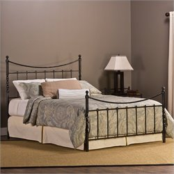 Hillsdale Sebastion Headboard and Footboard in Weathered Black - Full