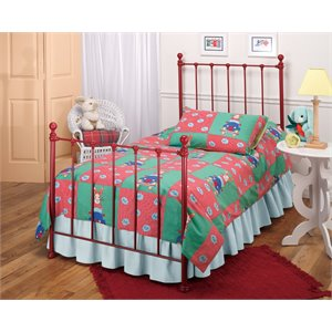 Molly Twin Poster Bed in Red
