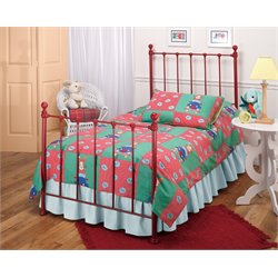 Hillsdale Molly Twin Poster Bed with Trundle in Red