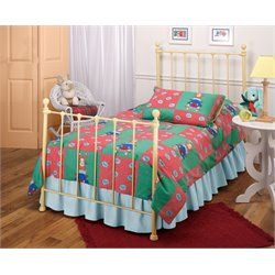Hillsdale Molly Twin Poster Bed with Trundle in Yellow