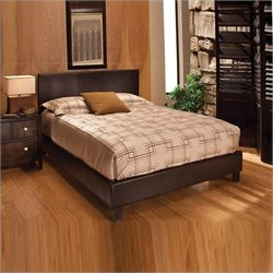 Hillsdale Harbortown Bed In Brown Vinyl - Queen
