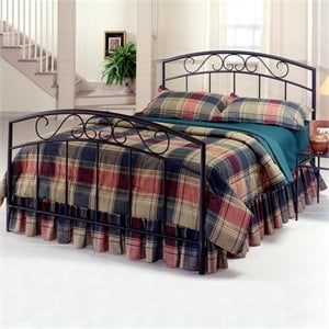 Hillsdale Wendell Metal Bed with Copper Pebble Finish