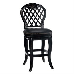 Hillsdale Braxton Wood Bar Stool in Black - 26 Inch