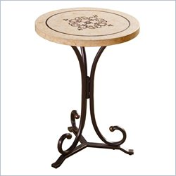 Hillsdale Belladora Round End Table with Copper Gold Finish