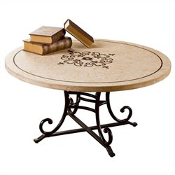 Hillsdale Belladora Round Coffee Table in Copper Gold Finish