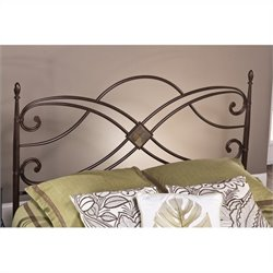 Hillsdale Barcelona Spindle Headboard in Brown - Full/Queen