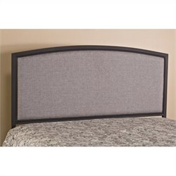 Hillsdale Bayside Panel Headboard with Rails in Gray
