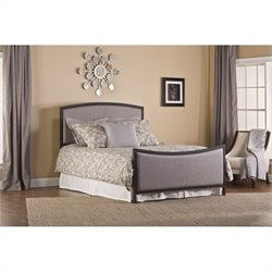 Hillsdale Bayside Upholstered Headboard and Footboard in Gray and Black