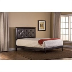 Hillsdale Becker Bed Set with Rails in Brown Faux Leather - Twin