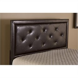 Hillsdale Becker Headboard with Rails in Brown Faux leather - Twin