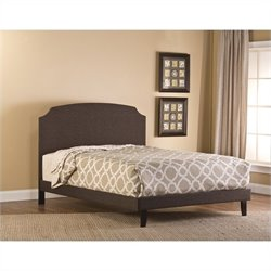 Hillsdale Lawler Upholstered Bed in Dark Brown