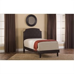 Hillsdale Lawler Bed Set with Rails in Brown - Twin
