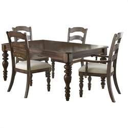 Hillsdale Pine Island 5 PC Dining Set with Ladder Back Side Chairs