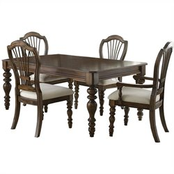 Hillsdale Pine Island 5 PC Dining Set with Wheat Back Side Chairs