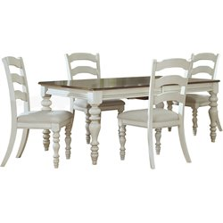 Hillsdale Pine Island Dining Set with Ladder Back Chairs