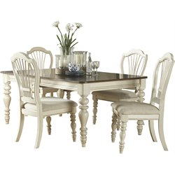 Hillsdale Pine Island Dining Set with Wheat Back Chairs