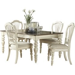 Hillsdale Pine Island 5 PC Dining Set with Wheat Back Chairs