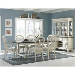 Hillsdale Pine Island 7 PC Trestle Dining Set with Wheat Back Chairs