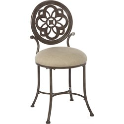 Hillsdale Marsala Vanity Stool in Gray