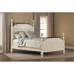 Hillsdale Pine Island Queen Post Bed in Old White - Queen