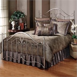 Hillsdale Doheny Metal Panel Bed in Antique Pewter Finish - King