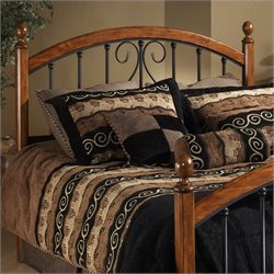 Hillsdale Burton Way Metal Headboard in Cherry and Black - Full/Queen
