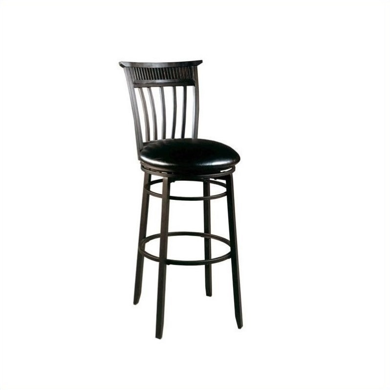 Hillsdale Cottage 26 Quot Swivel Counter Bar Stool In Black