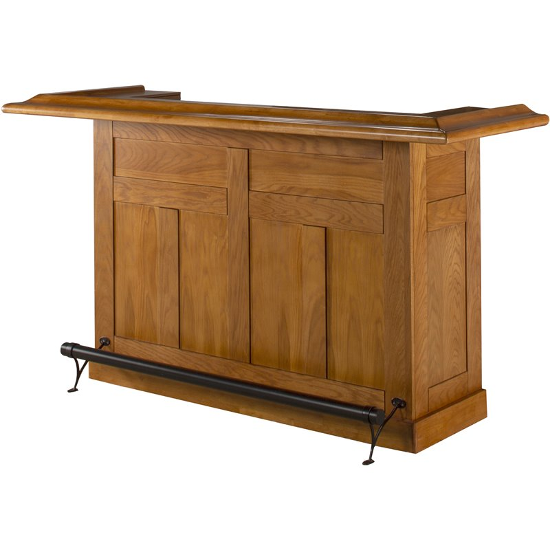 Hillsdale classic oak large home bar unit 62576aoak Home pub bar furniture