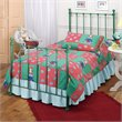 Hillsdale Molly Green Twin Metal Panel Bed