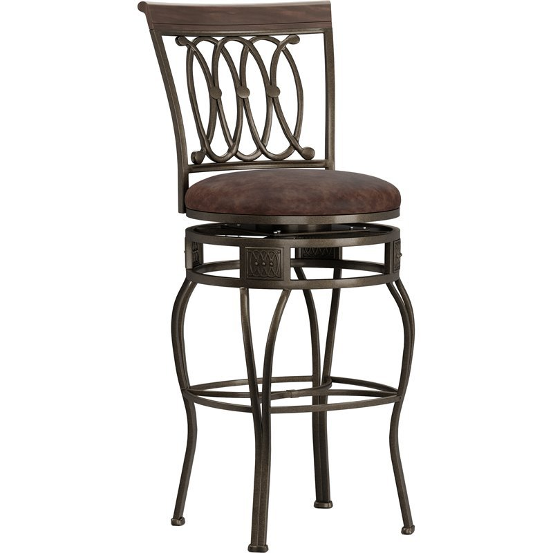 Hillsdale Montello 32 Quot Swivel Bar Stool In Old Steel 41545h